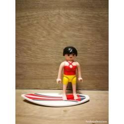 CI010 PLAYMOBIL SURFISTA MUJER